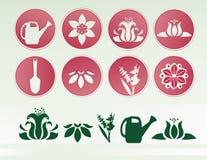 Icono del jardín de Sprintime Imágenes de archivo libres de regalías