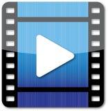 Icono del juego de la película Foto de archivo libre de regalías