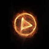 Icono del juego del fuego Imágenes de archivo libres de regalías