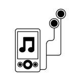Icono del jugador de música Mp3 Fotografía de archivo libre de regalías