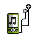 Icono del jugador de música Mp3 Fotografía de archivo