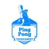 Icono del jugador de tenis que juega a Ping Pong Foto de archivo