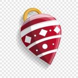 Icono del juguete del cono del árbol de Navidad, estilo de la historieta libre illustration