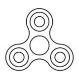 Icono del juguete del hilandero de la mano Fotos de archivo