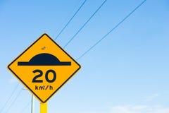 Icono del límite del badén y del retraso Foto de archivo libre de regalías