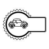 icono del lado del coche deportivo del emblema Imagen de archivo