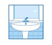 Icono del lavabo del cuarto de baño Foto de archivo libre de regalías