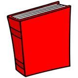Icono del libro Foto de archivo libre de regalías