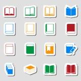 Icono del libro del color fijado como Labes Imagenes de archivo