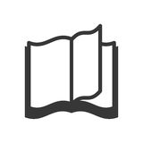 Icono del libro Leyendo y aprendiendo diseño Gráfico de vector stock de ilustración
