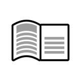 Icono del libro Leyendo y aprendiendo diseño Gráfico de vector ilustración del vector