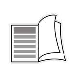 Icono del libro Leyendo y aprendiendo diseño Gráfico de vector libre illustration