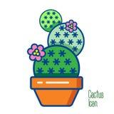 Icono del logotipo del cactus Imagen de archivo libre de regalías