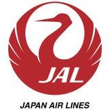 Icono del logotipo de Japan Airlines stock de ilustración