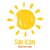 Icono del logotipo de la explosión de Sun Fotografía de archivo libre de regalías