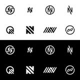 Icono del logotipo de la letra N Imágenes de archivo libres de regalías