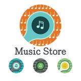 Icono del logotipo de la música Fotos de archivo libres de regalías