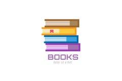 Icono del logotipo de la plantilla del libro De nuevo a escuela Educación Fotografía de archivo libre de regalías