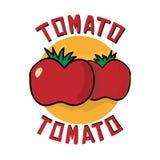 Icono del logotipo del tomate Fotografía de archivo libre de regalías