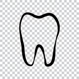 Icono del logotipo del diente para el dentista o el cuidado dental de la estomatología libre illustration