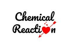 icono del logotipo del diseño de la tipografía del texto de la palabra de la reacción química Foto de archivo libre de regalías