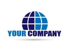 Icono del logotipo del globo para el concepto de la empresa de negocios en el fondo blanco libre illustration
