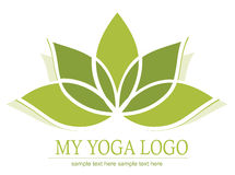 Icono del loto de la yoga Foto de archivo libre de regalías