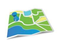 Icono del mapa Foto de archivo libre de regalías