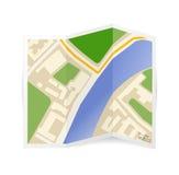 Icono del mapa del vector Imagenes de archivo