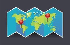 Icono del mapa del vector ilustración del vector