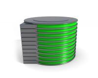 Icono del mecanismo impulsor de disco duro Foto de archivo libre de regalías