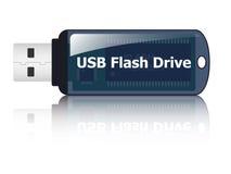 Icono del mecanismo impulsor del flash del USB Fotografía de archivo libre de regalías