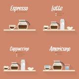 Icono del menú del café Imagen de archivo