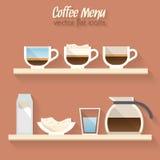 Icono del menú del café Fotografía de archivo
