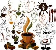 Icono del menú del café Fotos de archivo