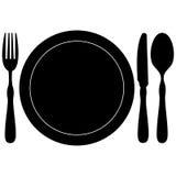 Icono del menú del restaurante Fotos de archivo libres de regalías