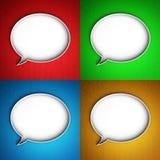 Icono del mensaje. Burbuja del discurso. Fotos de archivo