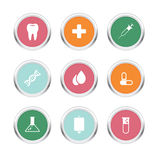 Icono del metal de la salud Foto de archivo libre de regalías