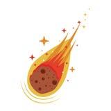 Icono del meteorito de la llama ilustración del vector