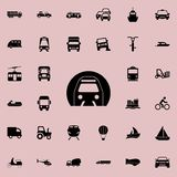 Icono del metro Transporte el sistema universal de los iconos para el web y el móvil stock de ilustración