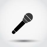 Icono del micrófono Imagenes de archivo