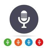 Icono del micrófono Símbolo del Presidente Live Music Sign Foto de archivo
