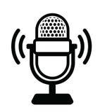 Icono del micrófono Foto de archivo