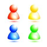 Icono del miembro/de la gente del vector Imágenes de archivo libres de regalías