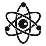 Icono del modelo atómico, estilo simple Foto de archivo