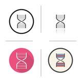 Icono del modelo de la cadena de la DNA ilustración del vector