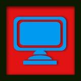 Icono del monitor del ordenador imagen de archivo libre de regalías