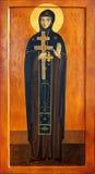 Icono del monje Efrosinia del santo de Polotsk Imagen de archivo libre de regalías