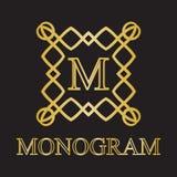 Icono del monograma Imagenes de archivo