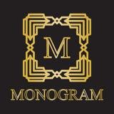 Icono del monograma Imagen de archivo libre de regalías